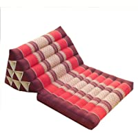 LIQICAI Bed Backrest Cushion Triangle Thai Cushion Foldable Seat Cushion For Watching TV And Reading Natural Kapok…