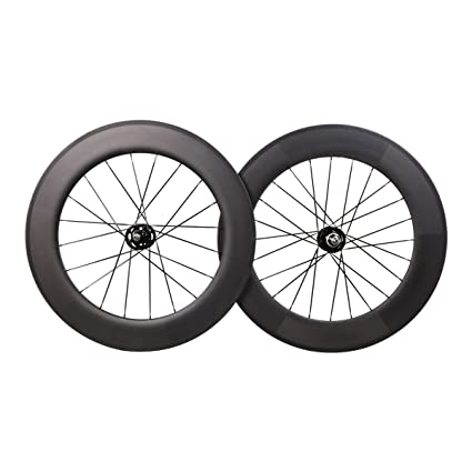Amazon.com : ICAN 88mm Carbon Wheelset Track Bike Fixed Gear Bike ...