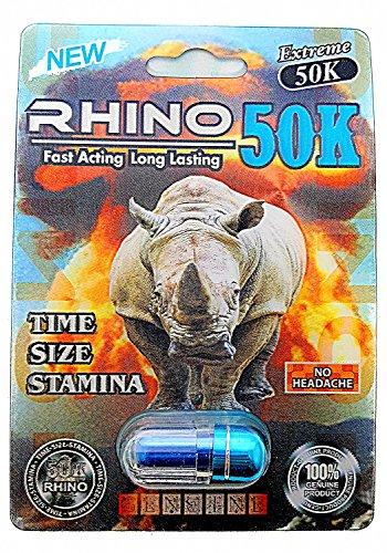Rhino 50K Extreme Men Sexual Supplement Enhancement 3 Pills - Pill Pack