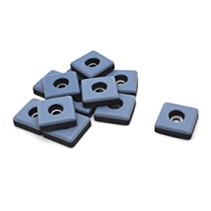 "Antrader 12Pack Screw on Furniture Gliders 1"" x 1"" Square PTFE (Teflon) Carpet Flooring Coaster Magic Mover Moving Sliders Pads Navy"