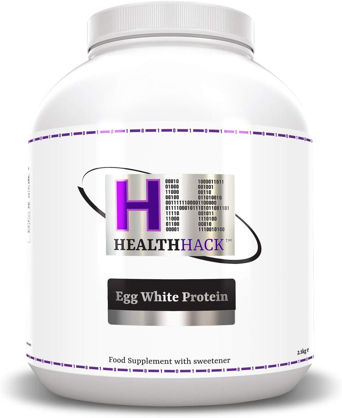 Health Hack - Clara de huevo en polvo, 2,5 kg