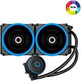 Game Max Iceberg 240 mm Water Cooling System with 7 Colour PWM Fan - Black