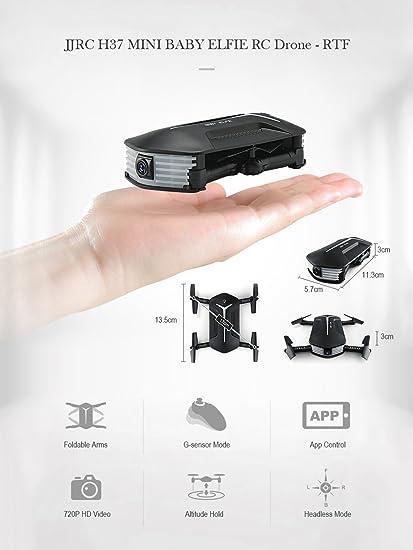 Youwend JJRC H37 Mini Baby Elfie RC Drone Plegable RTF WiFi FPV ...