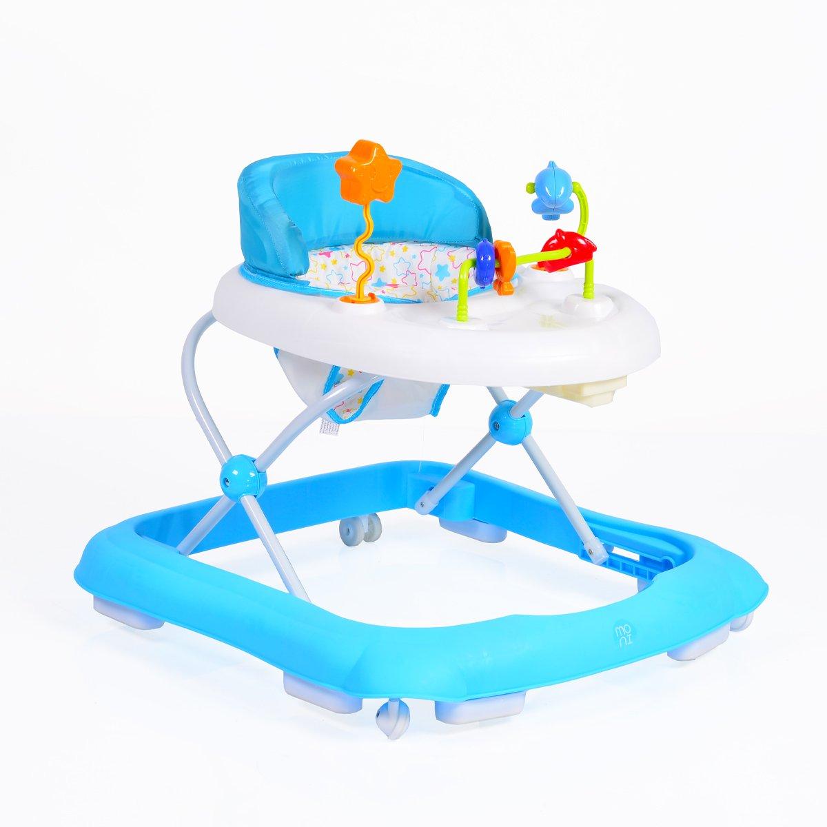 Laufhilfe Eko h/öhenverstellbar Blau gepolsteter Sitz und Spielcenter Lauflernwagen