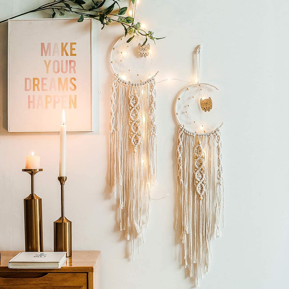 Large dream catcher hand knitted indian dreamcatcher home bedroom hanging sh