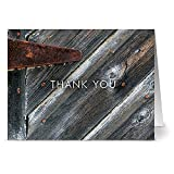 24 Thank You Note Cards - A Rustic Thanks - Blank Cards - Off White Ivory Envelopes Included