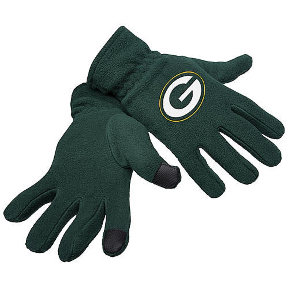 Mens Knit Texting Gloves - Green Bay Packers