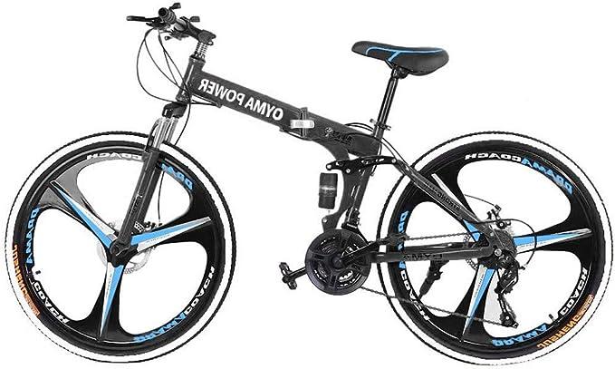 DNNAL Bicicleta de montaña, Suspensión con 26 Pulgadas Ruedas, Marco MTB Bicicleta con Frenos para Hombres/Mujeres,Azul: Amazon.es: Deportes y aire libre
