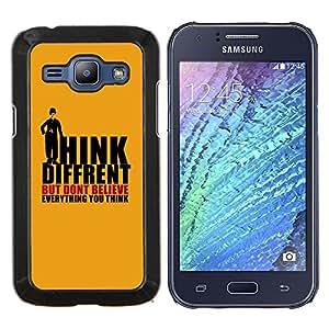 BearCase / Cubierta de protección Caso duro de la contraportada de Shell Plástico /// Samsung Galaxy J1 J100 /// Think Different creas Pensamientos Cita