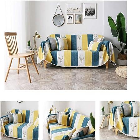 PH - Manta de algodón para sofá o sillón (300 x 180 cm): Amazon.es: Hogar