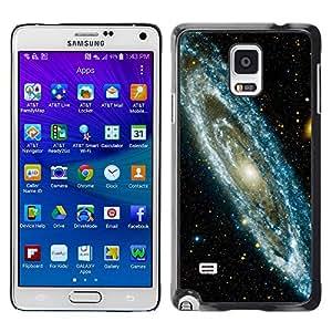 Galaxia de estrellas - Metal de aluminio y de plástico duro Caja del teléfono - Negro - Samsung Galaxy Note 4