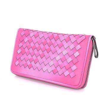 Carpeta de las señoras/Billetera larga de carteras tejidas/Bolsa de mano de gran capacidad-A: Amazon.es: Equipaje