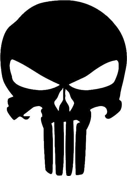 Punisher Aufkleber Auto Sticker Autosticker Autoaufkleber Decal War Zone Totenkopf Skull 10 X 14 Cm Schwarz Küche Haushalt