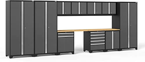 NewAge Products Pro Series Gray 12 Piece Set, Garage Cabinets, 52118