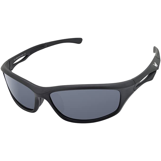 WHCREAT Gafas de sol polarizadas para hombre Sport Ultra Light TR90 Frame UV 400 Lente de