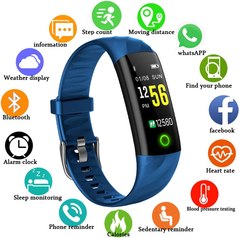 LIGE Fitness Tracker with Heart Rate Monitor Fitness Bracelet Waterproof IP67 Pedometer Heart Rate Monitor Smart Bracelet Activity Tracker with Sleep Monitor for Kids Women Mens