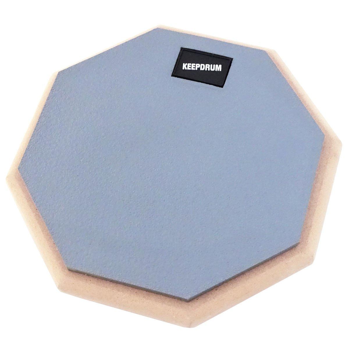 Keepdrum DP-GY8 Set Practice Pad Gris avec tr/épied et housse baguettes