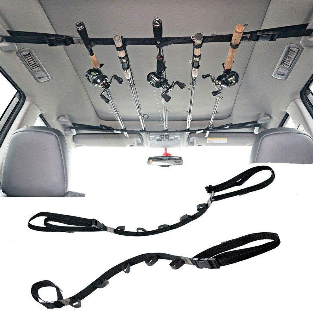 95sCloud 2 St/ücke Auto-Fischen-Binder-bewegliches Gestell Rutenhalter Rutenst/änder Angelrutengestell Angelrute Lagerung Ruten Sparer Fahrzeug Ruten Tr/äger f/ür SUV und Auto