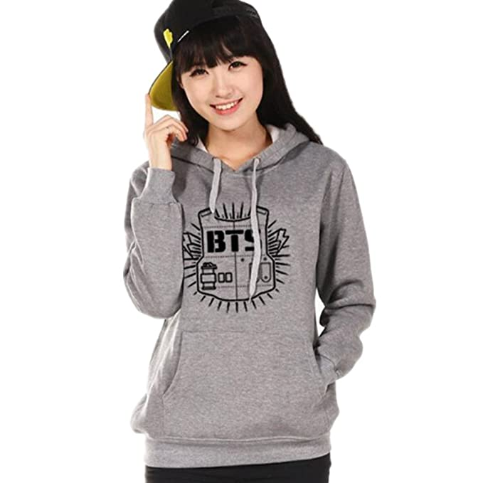Minetom Mujer Manga Larga Capucha Suéter KPOP BTS Sudaderas con Capucha  Bangtan Boys Capa Hoodies Pullover Outwear  Amazon.es  Ropa y accesorios bea4c9350e950