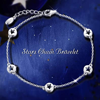 Details about  /Star Lucky Charm Bracelet Handmade Floating Celestial Layering Stacking Chain