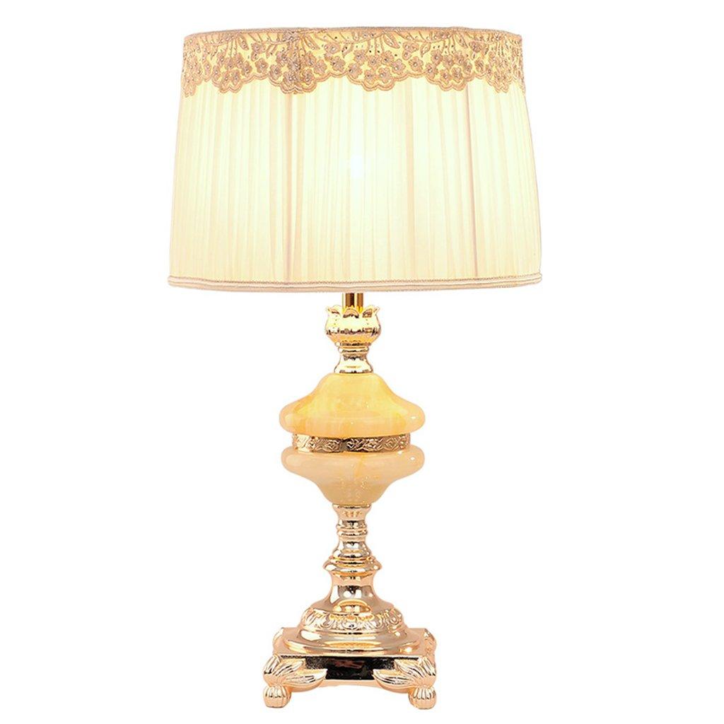 Jade Lampe Schlafzimmer Nachttischlampe LED Lampe E27 Study Room Wohnzimmer Tischlampe Ehe Raum Hochzeit Licht ( größe : 61*33.5CM )