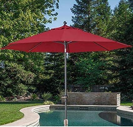 d35909bc89ae3 Amazon.com : 10' Auto Tilt Aluminum Umbrella made with Sunbrella Fabric :  Garden & Outdoor