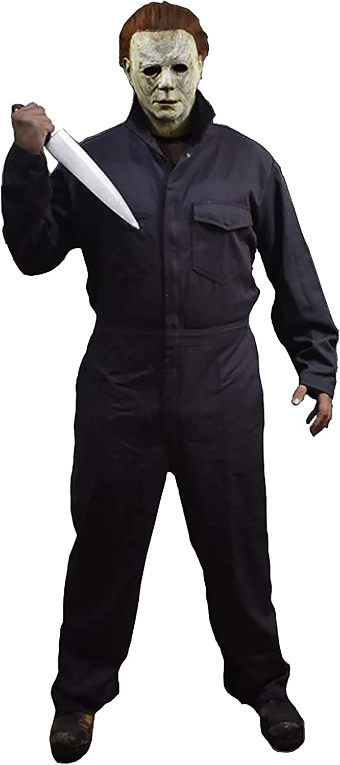 Color Of Michael Myers Coveralls In Halloween 2020 Amazon.com: Adult Michael Myers Coveralls Halloween (2018