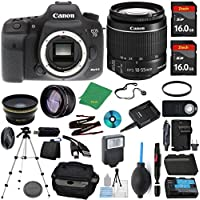 Canon EOS 7D Mark II Camera + 18-55mm STM + 2pcs ZeeTech 16GB Memory + Case + Reader + Tripod + Starter Set + Wide Angle + Telephoto + Flash + Battery + Charger + UV - International Version