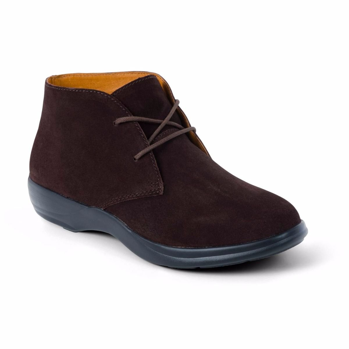 Dr. Comfort Women's Cara Casual Suede Leather Bootie Chukka Boot, Brown, 6 Medium (A/B) US