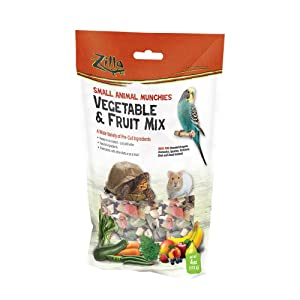Zilla Small Animal Munchies - Vegetable & Fruit Mix