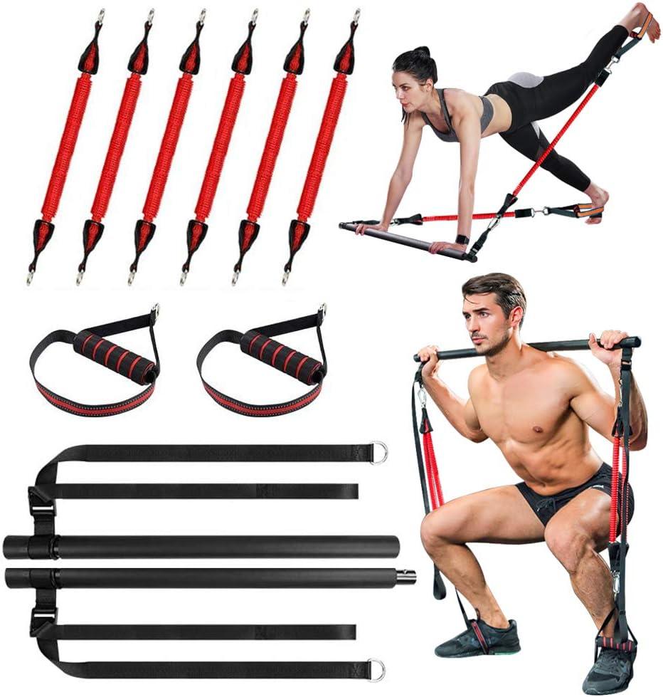 AUTUWT - Sistema de barra de pilates portátil para el hogar, la oficina o los viajes, levantamiento de pesas y entrenamiento de intervalos HIIT