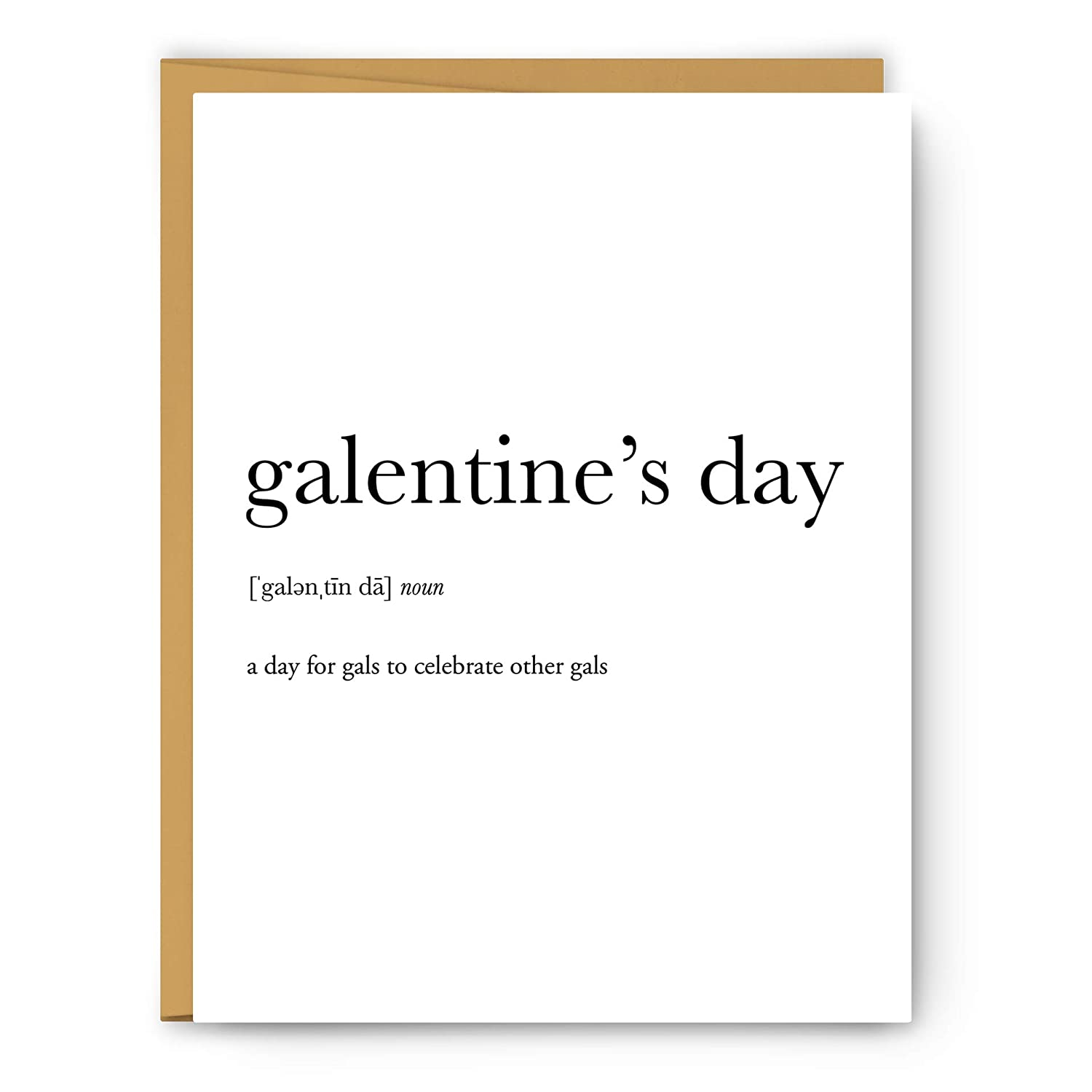 Amazon Com Galentine S Day Definition Unframed Art Print Poster Or Greeting Card Handmade