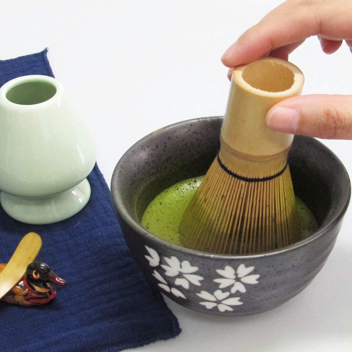 6pcs Handmade Matcha Ceremony Kit for Traditional Japanese Tea Ceremony Steel Stainless Strainer Matcha Whisk Artcome Japanese Matcha Tea Latte Tool Set Milk Frothering Pitcher