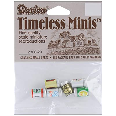 Darice Timeless Miniatures Assorted Beer Cans, Multi-color: Pet Supplies