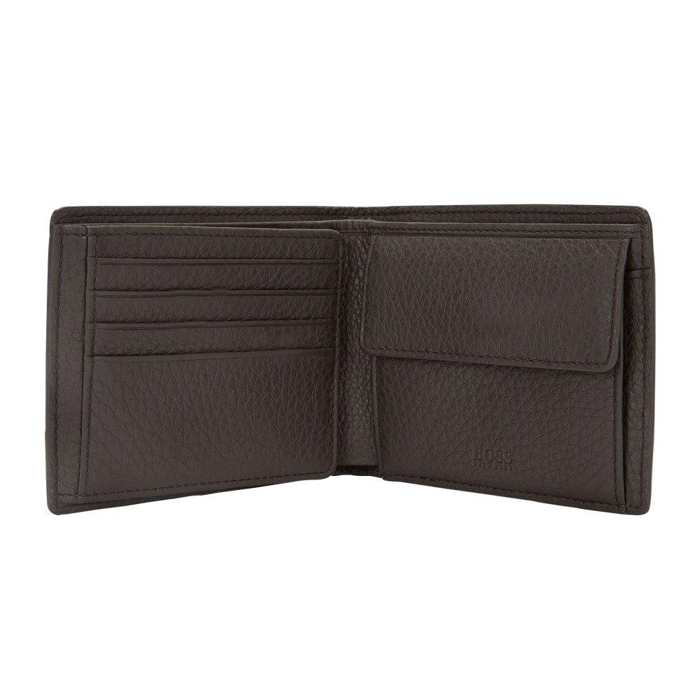 Hugo Boss Men's Aspen Trifold Leather Wallet, OS, Dark Brown by Hugo Boss (Image #2)