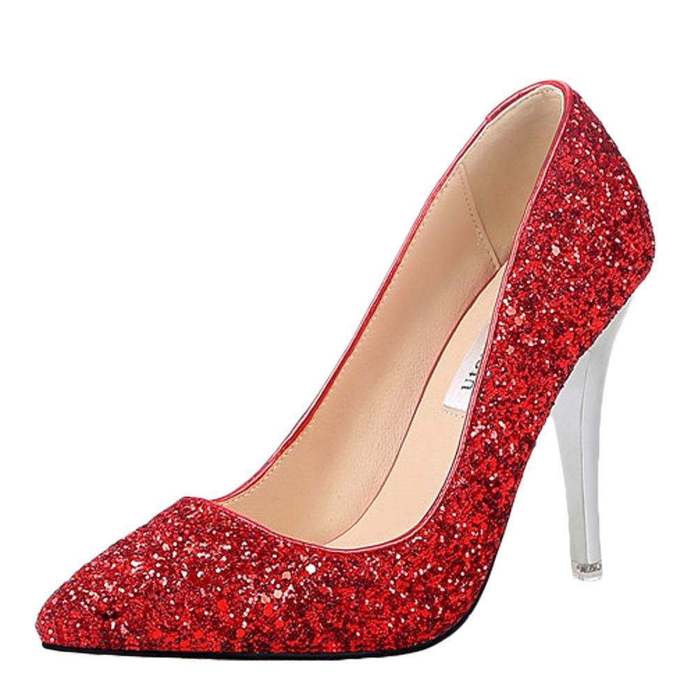 MissSaSa Donna Affascinante Scarpe  Rosso