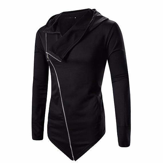 Amazon.com : Dressin_Mens Clothes Mens Irregular Zipper Sweater Winter Slim Hoodie Long Sleeve Swearshirt Coat Outwear Tops : Clothing