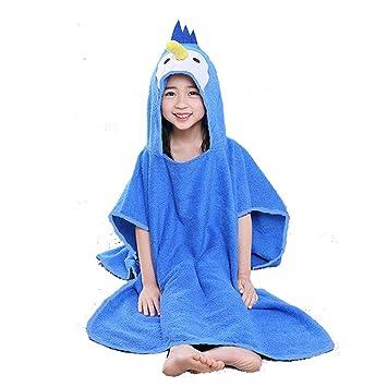 Velvet Bathrobe Baby Unisex Kids Animal Hooded Bath Towel Cartoon Shower Rope