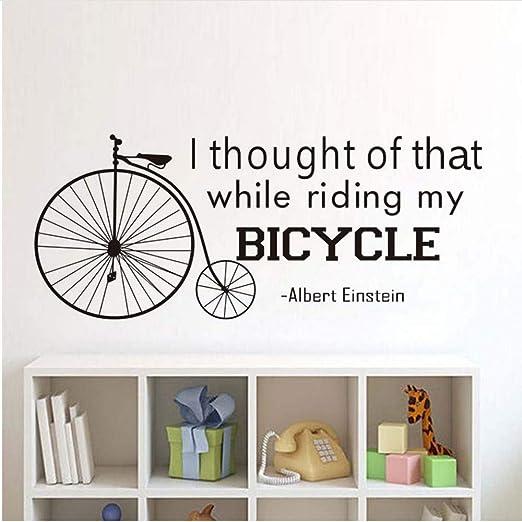 JXNY Pensé en Ese Rumor inglés en Bicicleta Creativo Tallado Arte ...