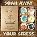 Bath Bomb Gift Set, Epson Salt & Essential Oils