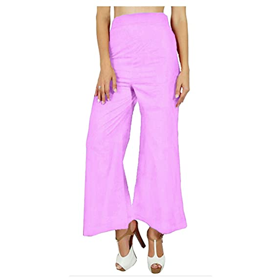 f8569b07b0b Papaval Women Ladies Palazzo Plain Flared Wide Leg Baggy Trousers Plus  Size  Amazon.co.uk  Clothing