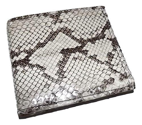 Baglioni Italia Men's Genuine Python Snakeskin Bifold 6 Pocket Wallet White - In Al Stores Florence
