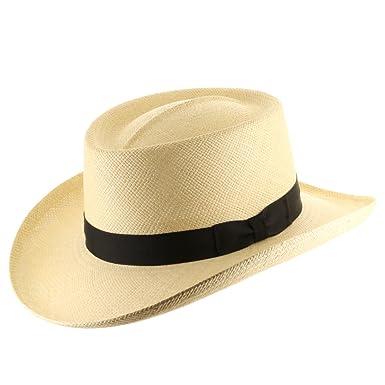 75e0c39a2e70d Ultrafino Hollywood Gambler Mens Straw Panama Hat at Amazon Men s Clothing  store