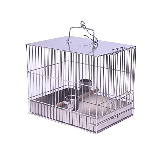 Grandes jaulas para pájaros de Acero Inoxidable Parrot Birdhouses ...
