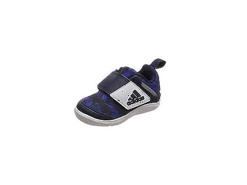 new styles a2109 f5ad3 adidas Fortaplay AC Sneakers Basses Mixte bébé, Bleu HirbluConavyFtwwht,  19