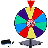 T-SIGN 12 Inch Heavy Duty Spinning Prize Wheel, 10 Slots Color Tabletop Prize Wheel Spinner with Dry Erase Markers and…