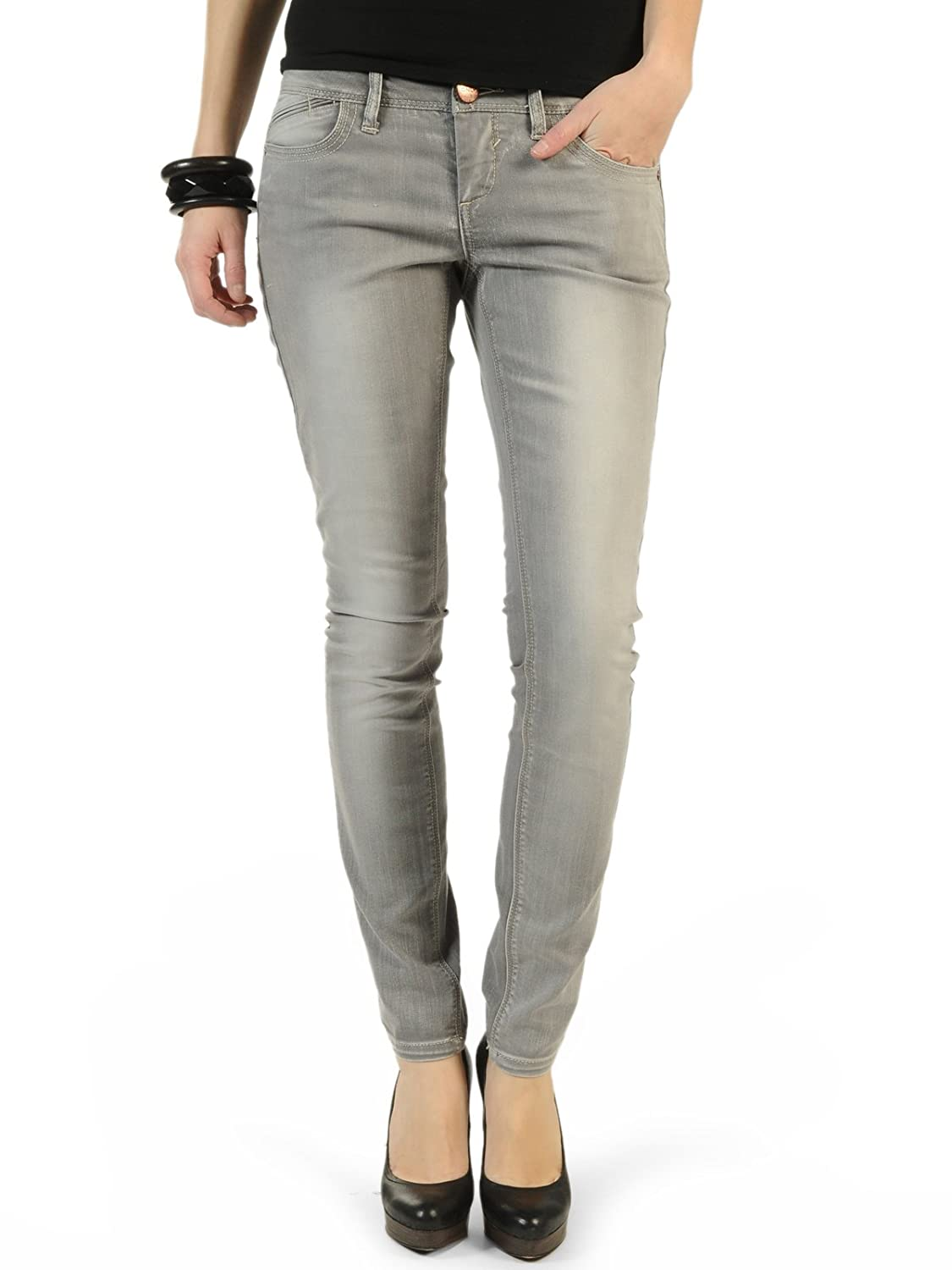 Only - Jeans Only Coral Skinny SF95 - Gris