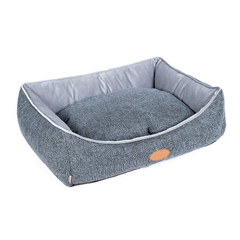 A Medium A Medium Pet house Pet Bed, Wear Resistant Bite Resistant Pet Sofa Soft Dog Mattress 2 colors 3 Size (color   A, Size   M)