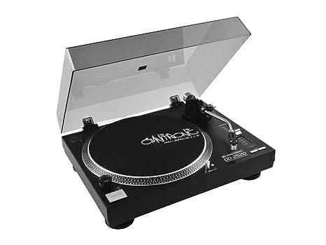 Omnitronic DD-2520 Negro - Tocadiscos (Negro, USB, 12 W, 115/230 V, 50/60 Hz, 11 kg)