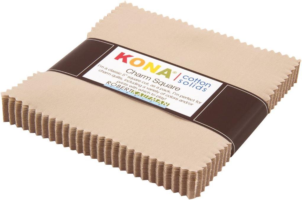 Robert Kaufman Kona Cotton Parchment Charm Pack 5